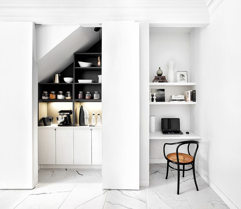 A dedicated work space in the kitchen