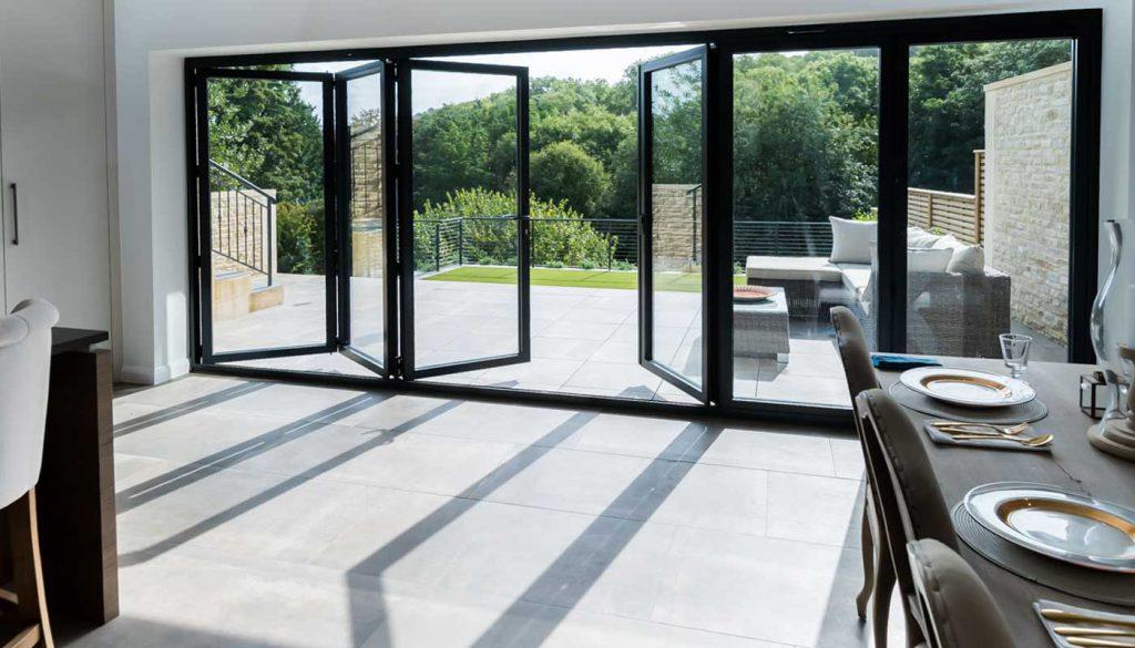 Bifold doors for kitchen